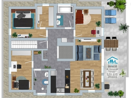 Provisionsfrei - Penthouse - 4 Zimmer mit 111,33qm in 5-Parteienhaus - Aufzug, Tiefgarage