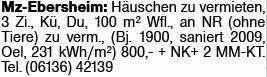 Haus in Mainz-Ebersheim (55129)