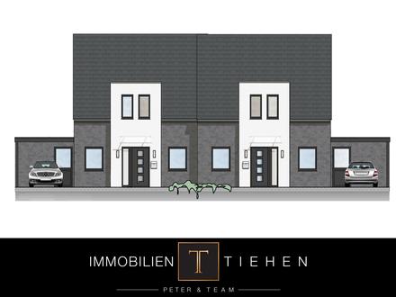 Moderne Neubau-Doppelhaushälfte in Twist: offener Wohn- u. Kochbereich, Fußbodenheizung uvm.