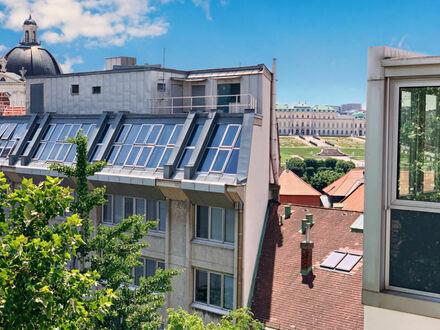 1030 Wien Landstraße - Botschaftsviertel: Lichtdurchflutetes Penthouse mit 2 Terrassen und Blick auf Schloss Belvedere