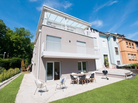 RESERVIERT Klagenfurt - Kreuzbergl - Kinkstraße: Besondere 76 m² Gartenwohnung ** ERSTBEZUG **