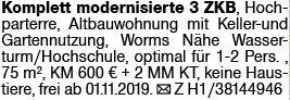 3-Zimmer Mietwohnung in Worms (67547)