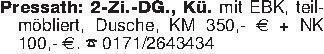 Pressath: 2-Zi.-DG., Kü. mit E...