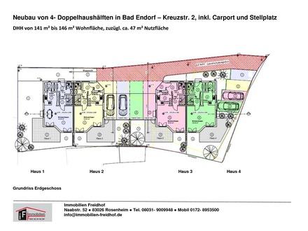 Neubau von 4 Doppelhaushälften ind Bad Endorf
