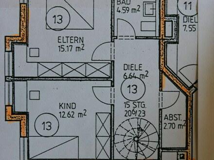 3 ZKB Maisonette Whg, 83m2 mit Balkon, Aufzug, TG