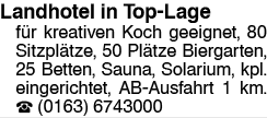 Landhotel in Top-Lage