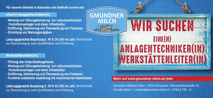 Für unseren Betrieb in Gmunden und Sattledt suchen wir: eine(n) Anlagentechniker(in) - Wartung und Störungsbehebung von vollautomatisierten Produktionsanlagen und deren Infrastruktur - Einführung, Opt