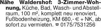 Nähe Waldershof: 3-Zimmer-Wohn...