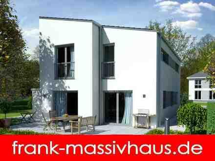 modernes Pultdachhaus in Massivbauweise