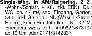 Single-Whg. in AM/Raigering, 2...