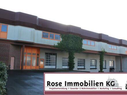ROSE IMMOBILIEN KG: Vielseitige beheizte Industriehalle mit Hochregallager
