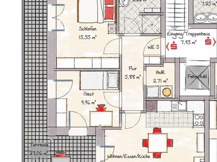 Wohnung 5 - nicht maßstabsgerecht
