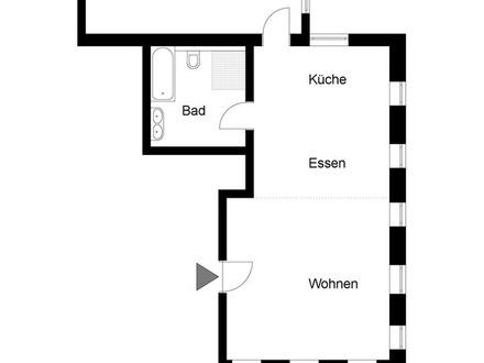 NEUE 2 Zimmer-Erdgeschoss-Wohnung im Altbau