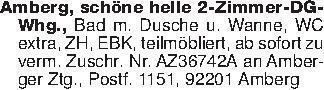 Amberg, schöne helle 2-Zimmer-...