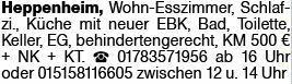 2-Zimmer Mietwohnung in Heppenheim (64646)