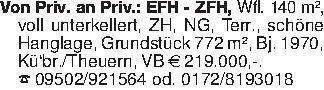 Von Priv. an Priv.: EFH - ZFH,...