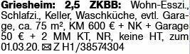 2-Zimmer Mietwohnung in Griesheim (64347)