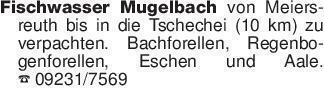 Fischwasser Mugelbach von Meie...