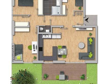 Hochwertige 4-Zimmer Neubau-Wohnung in Ascha