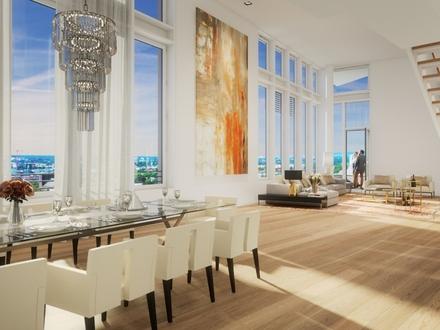 Vier-Zimmer-Penthouse mit großer Dachterrasse mit Fernblick