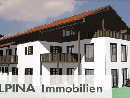 Traumhaftes Neubauprojekt in Übersee am Chiemsee! Schicke 3-Zimmer-Wohnung mit 2 Balkonen!