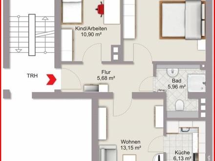 Gemütliches Nest im Herzen der Stadt - die Nürnberger Burg als Nachbar. Kompakte 3-Zimmer-ETW