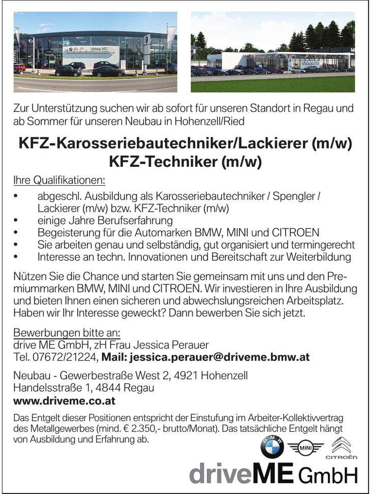 Zur Unterstützung suchen wir ab sofort für unseren Standort in Regau und ab Sommer für unseren Neubau in Hohenzell/Ried KFZ-Karosseriebautechniker/Lackierer (m/w) KFZ-Techniker (m/w)