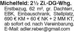 Michelfeld: 2,5 Zi. Whg.