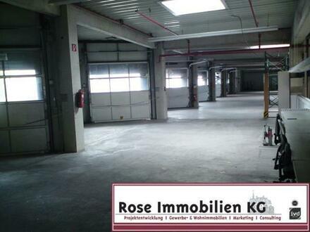 ROSE IMMOBILIEN KG: Lager-/Produktionsflächen mit Verwaltung Nutzfläche mit 6x Kranbahn!