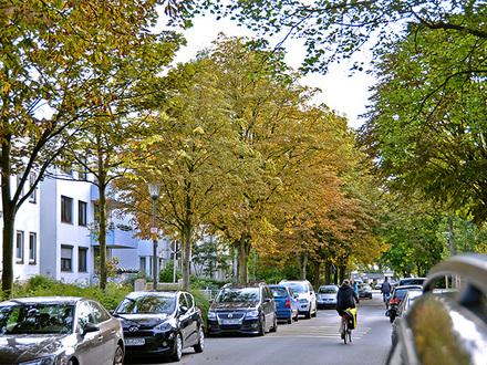 Grüne Anwohnerstraße