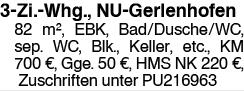 3 Zi. Whg., NU Gerlenhofen