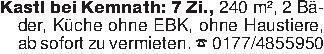 Kastl bei Kemnath: 7 Zi., 240...