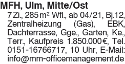 MFH,Ulm,Mitte/Ost