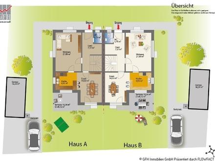 Neubau-Doppelhaushälfte (DHH B) in sonniger und ruhiger Wohnlage