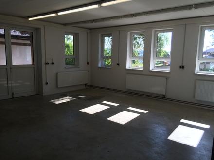Vielseitig nutzbare Gewerbeflächen: Verkaufsraum, Ausstellungsraum, Werkstatt, Atelier, Lager, etc. in Schöllnach – Anmietung…