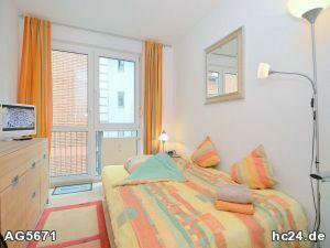 Modern möbliertes Zimmer mit Balkon und Internet in Nürnberg St.-Johannis