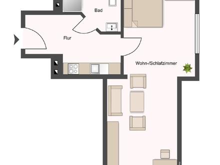 Super zentrale 1-Zimmer-Wohnung