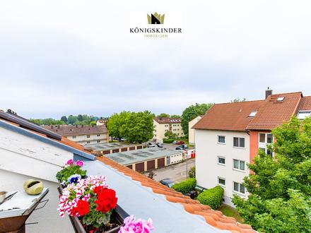Helle 2- Zimmerdachgeschosswohnung mit tollem Westbalkon am Rande der Barockstadt