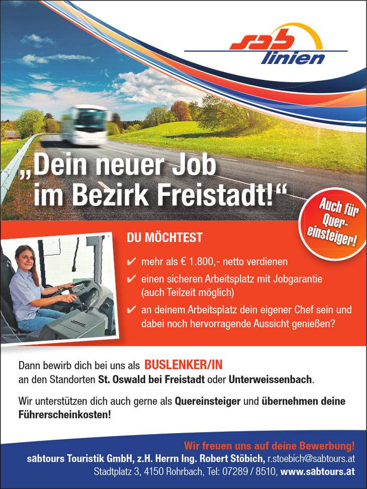 """Dein neuer Job im Bezirk Freistadt!"""" Auch für Quereinsteiger!"""