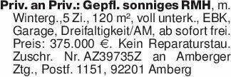 Priv. an Priv.: Gepfl. sonnige...