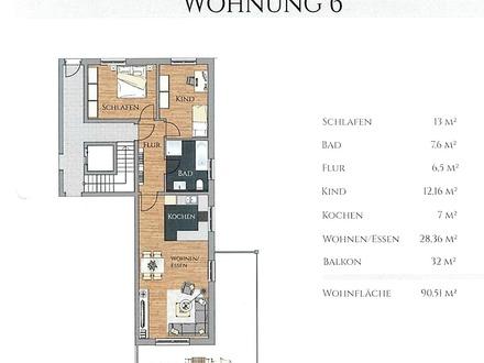 Neubau einer exklusiven Wohnanlage mit 18 Wohnungen und Tiefgarage in Waldkraiburg-Süd