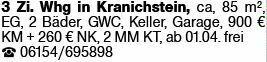 3-Zimmer Mietwohnung in Darmstadt-Kranichstein (64289)