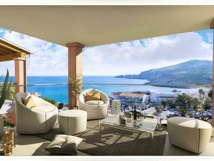 Penthouse mit 3 SZ und Meerblick an der Cala Mesquida