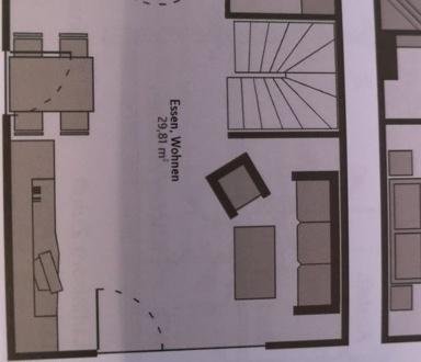 EG mit Wohn-Esszimmer/Küche/Gäste-WC und Terrasse