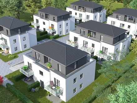 Kleine 2 Zimmer-Neubau-Wohnung mit Terrasse
