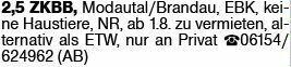 2-Zimmer Mietwohnung in Oberrammstadt (64372)
