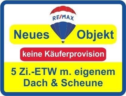 """Kaufen Sie ab €499,-mtl.*/ 5 Zi.-ETW unter einem """"eigenem"""" Dach & gr.Scheune! Keine Käuferprovision!"""