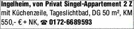 2-Zimmer Mietwohnung in Ingelheim (55218)