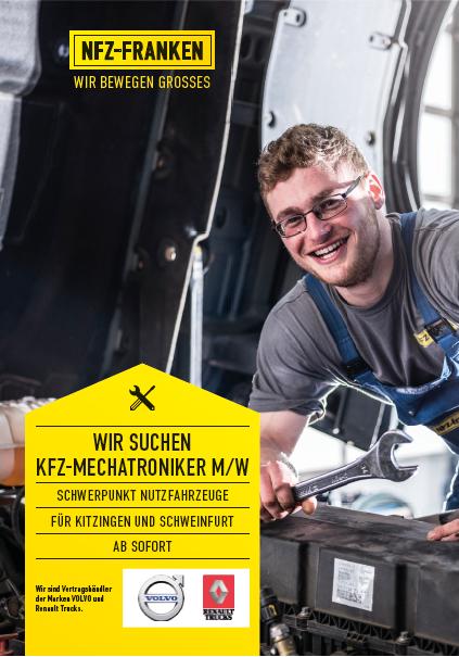 Wir suchen für unsere Standorte Kitzingen und Schweinfurt ab sofort...