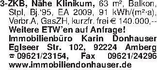 3-ZKB, Nähe Klinikum, 63 m², B...